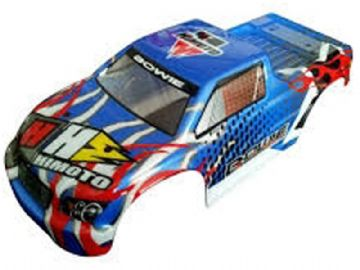 RC Car Body Bowie Monster Truck Bodyshell Blue  1/10 Scale Model 31806